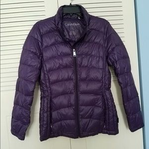 Calvin Klein Purple Down Jacket Medium NWOT